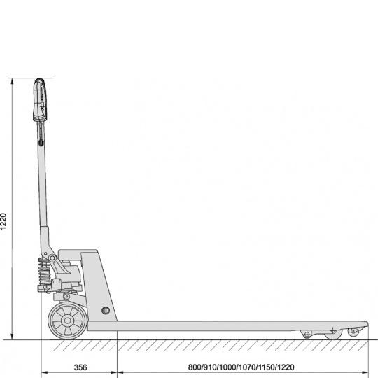 Длина вил 1150 (или 800) мм