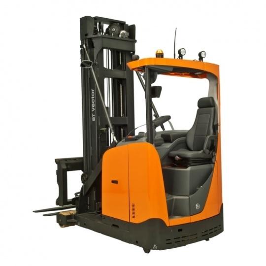 Грузоподъемность 1200 кг Высота подъема 6700 мм Максимум.  емкость батареи 930 Ач вольтаж 48 вольт BT Vector 1.25t VNA Truck